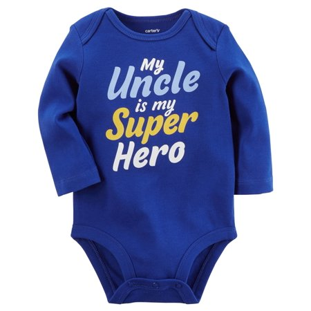 Carter's Baby Boys' My Uncle Is My Super Hero Collectible Bodysuit