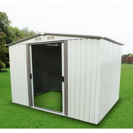 8 x 6 garden shed backyard lawn building w door utility tool