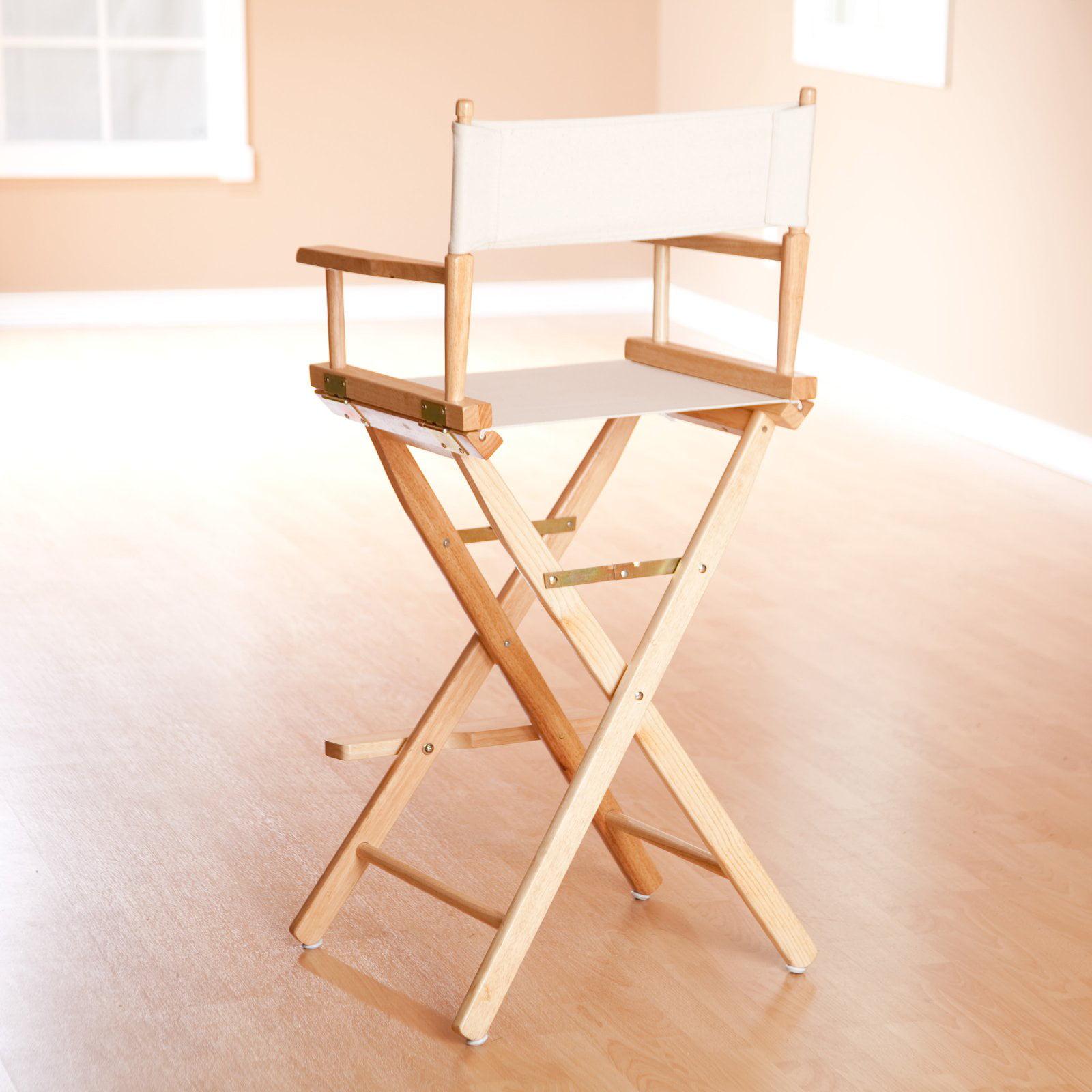 "30"" Director s Chair Natural Frame Natural Wheat Canvas Walmart"