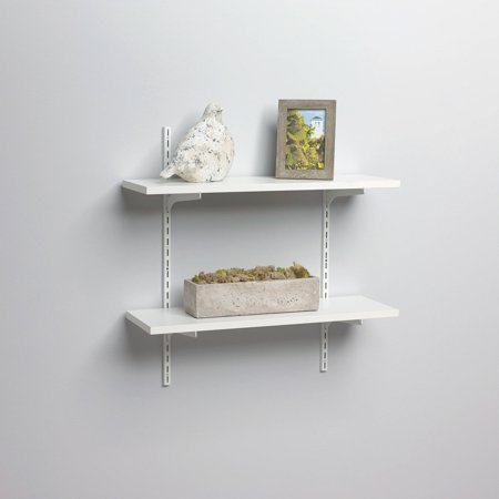 2 Adjustable Wire Shelves - Generic Shelf-Made® White Finish 8 in. x 24 in. Adjustable Shelf Kit 8 pc Box
