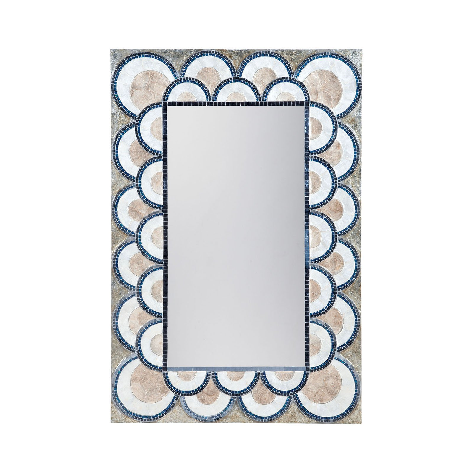 Dimond Home Art Deco Capiz Shell Mosaic Wall Mirror - 31.5W x 47.3
