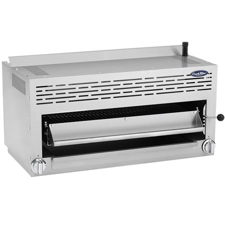 Gas Salamander Broiler (ATOSA US CookRite ATSB-36 Commercial Cheese Melter Salamander Broiler Infrared Raclette Countertop Grill Natural Gas 36