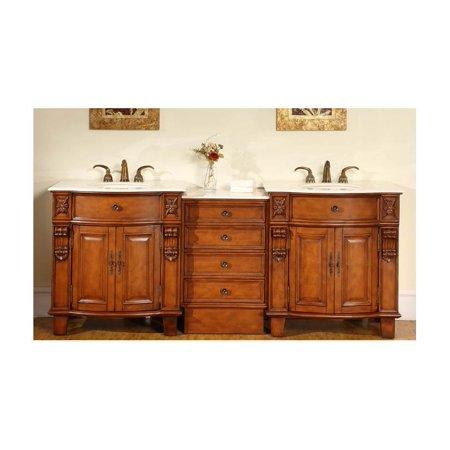 84 in. Teresa Double Sink Bathroom Vanity in Cherrywood