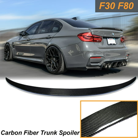 Trunk Deck Lid (Xotic Tech Trunk Lid Spoiler Wing Carbon Fiber Deck For BMW F30 F80 M3 Sedan Boot M Performance )