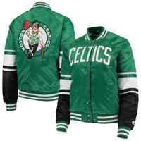 Boston Celtics Starter Women's Victory Satin Full-Snap Jacket - Kelly Green/Black