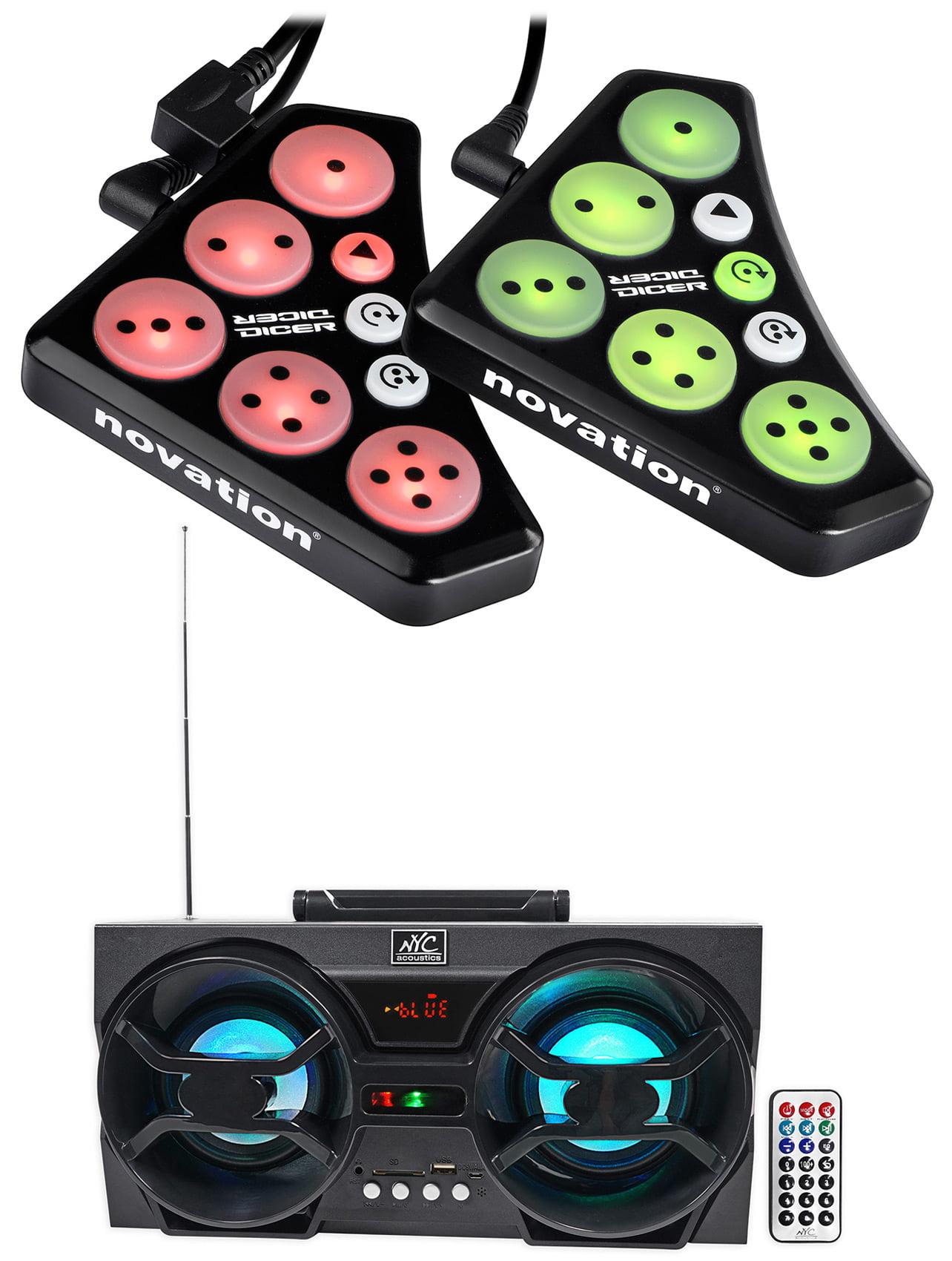 Novation DICER Digital Cue Point Looping Serato Traktor DJ Controller + Speaker by NOVATION