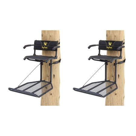 (Rivers Edge Big Foot XL Lounger Hang On Portable Hunting Tree Stand (2 Pack))