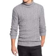 Tasso Elba NEW Gray Mens Size Small S Cable Knit Turtleneck Sweater
