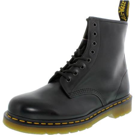 Dr. Martens Men's 1460 8-Eye Smooth Black Ankle-High Leather Boot - 10M