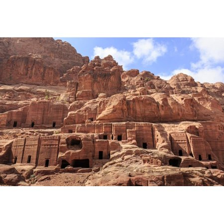 Tombs, Street of Facades, Petra, UNESCO World Heritage Site, Jordan, Middle East Print Wall Art By Eleanor