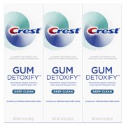 Crest Gum Detoxify Deep Clean Toothpaste, 4.1 oz., Pack of 3