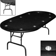 Trademark Poker Texas Holdem Poker Table With Racetrack & Folding Legs