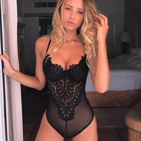- Women Lingerie Corset Lace Underwire Racy Muslin Bodysuit Temptation Underwear L