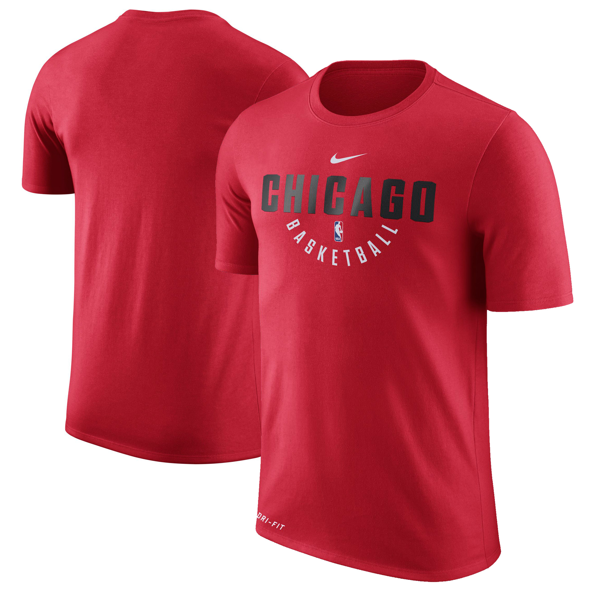 Chicago Bulls Nike Practice Performance T-Shirt - Red