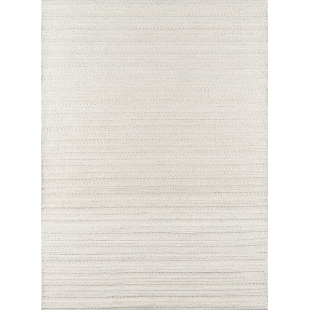 Momeni Andes Hand Woven Wool and Viscose Ivory Area Rug 2