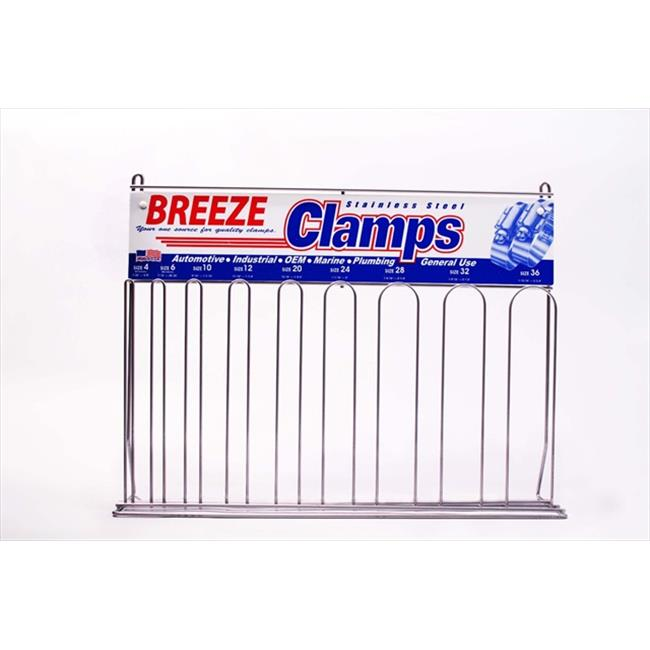 BREEZE 6210 Breeze Steel Hose Clamp Display Rack