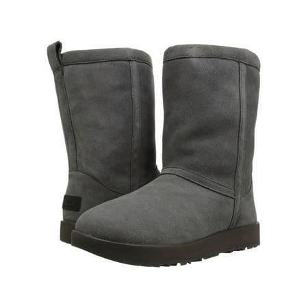 72d758318a UGG - UGG Classic Short Waterproof Women s Shoes Suede Boot 1017508 Metal -  Walmart.com