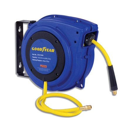 "GOODYEAR Air Hose Reel Heavy Duty Retractable Air Compressor Max. 300PSI (1/4"" x 50 FT)"