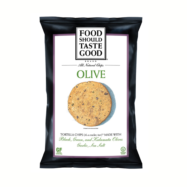 Food Should Taste Good Olive Tortilla Chips 1.5 oz Bags - Pack of 24
