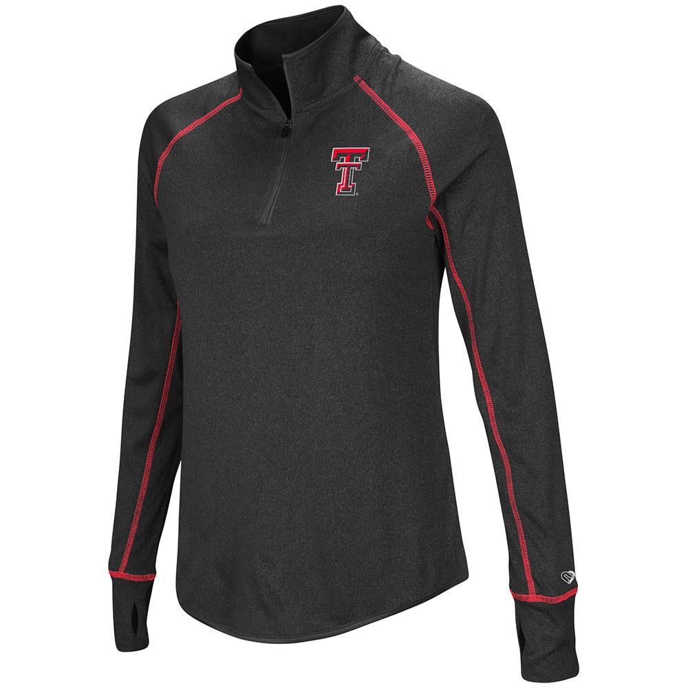 Womens Texas Tech Red Raiders Quarter Zip Pull-over Wind Shirt - S