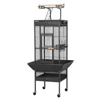 """Yaheetech 62"""" Wrought Iron Select Black Bird Cage w/ Play Top for Parrot, Cockatiel, Cockatoo, Parakeet, & Finch"""