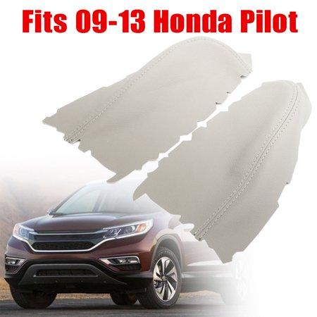 2009 Pilot Accessories (Front Door Panel Armrest Cover Leather Left+Right For Honda Pilot 2009 2010 2011 2012 2013 )