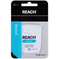 Reach Dental Floss - Waxed Unflavored 55yd (Pack of 3)