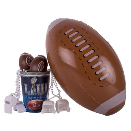 Super Bowl 53 Football Fan Tailgate Favor Cup 8pc 1 Person Party Pack (Super Bowl Party Decorating Ideas)