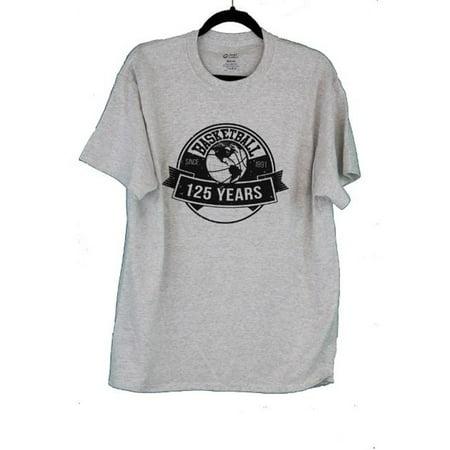 NAME DAGTXL 125 Years of Basketball Team T-Shirt, Ash Grey - Extra Large