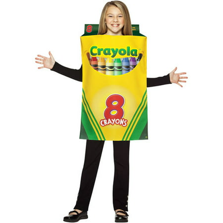 Crayons Costume (Crayola Crayon Box Child Halloween Costume - One)