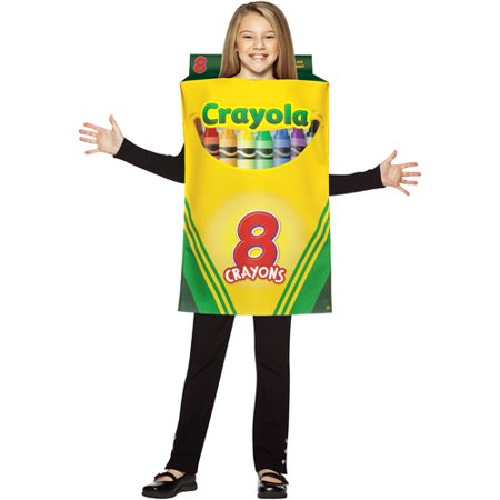 Crayola Crayon Box Child Halloween Costume - One Size - Homemade Crayon Halloween Costume