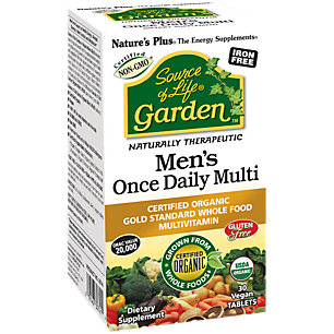 Source of Life Garden Organic Mens Daily Nature's Plus 30 Tabs