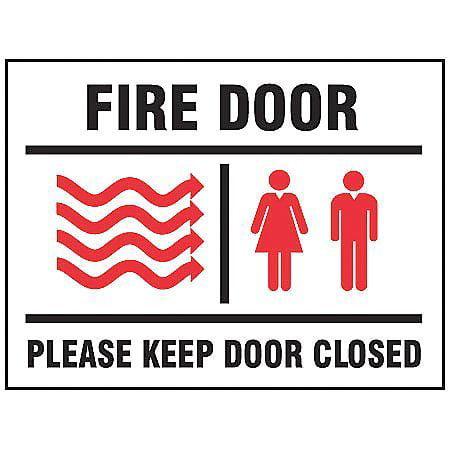 "Fire Door Sign, Accuform Signs, MEXT582VS, 7""Hx10""W"