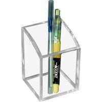 Kantek Clear Acrylic Pen Cup, 2-3/4 X 2-3/4 X 4 inches