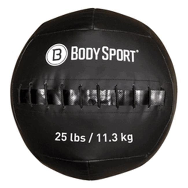 Body Sport ZZRMB25WB 25 lbs Wall Ball, Black