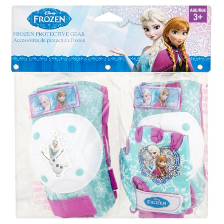 Bell Disney Frozen Elbow and Knee Pad Set with Padded Gloves, Aqua