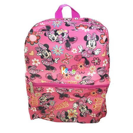 "Disney Minnie Mouse 12"" Toddler School Backpack Girls Canvas Book Bag"