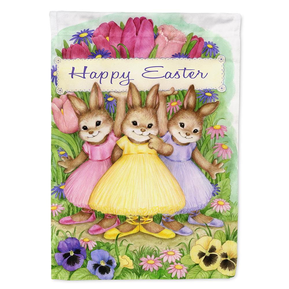 """Happy Easter Bunny Hot Air Balloon Garden Flag Small 18/"""" x 12/"""""""