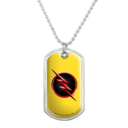 The Flash TV Series Reverse Flash Logo Military Dog Tag Pendant Necklace with Chain