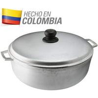 IMUSA USA 4.8 Quart Cast Aluminum Caldero (Dutch Oven) with Lid