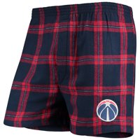 Washington Wizards Concepts Sport Homestretch Flannel Boxer Shorts - Navy