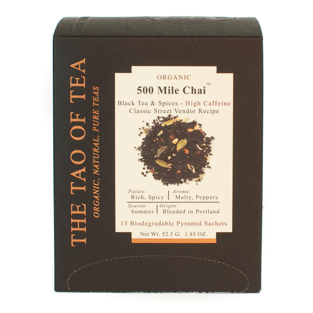 The Tao of Tea, Organic 500 Mile Chai Tea, Tea Bags, 15 Ct