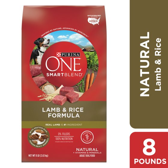 Purina ONE Natural Dry Dog Food, SmartBlend Lamb & Rice