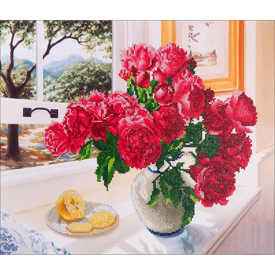 "Diamond Dotz Diamond Embroidery Facet Art Kit, 25.25"" x 31.5"", Roses By The Window"