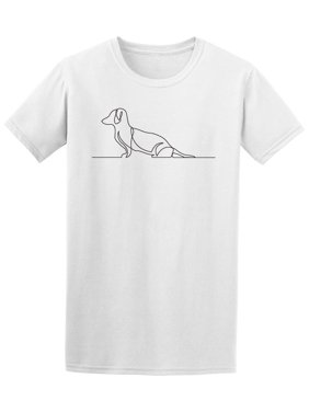 One Line Drawing Of Dachshund Tee Men's -Image by Shutterstock