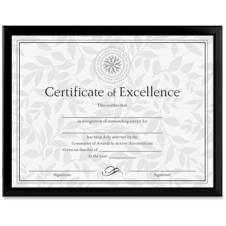 Dax Value U Channel Document Frame Wcertificates 8 12 X 11 Black