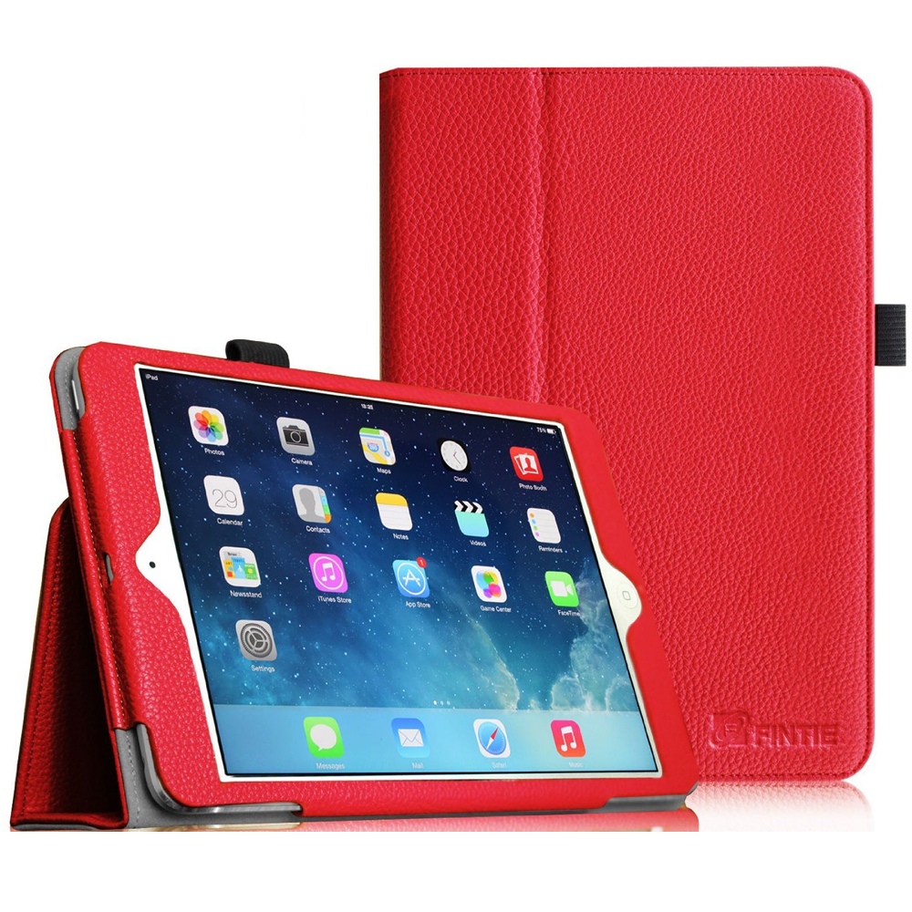 iPad mini 3 / iPad mini 2 / iPad mini Case - Fintie Folio Cover Slim Fit PU leather with Auto Sleep/Wake, Red