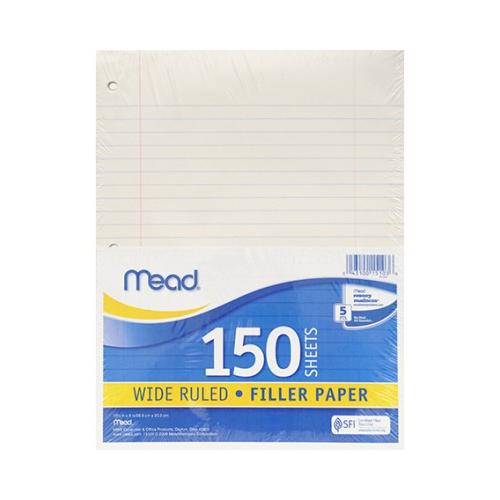 NOTEBOOK PAPER WIDE RULED 150CT MEA15103