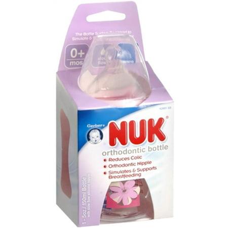 6 Pack - Nuk Orthodontic Bottle 5-ounce Slow Flow 1 Each
