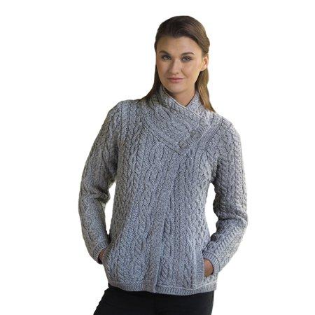 Irish Cable (Cable Knit Irish Three Button Wool)